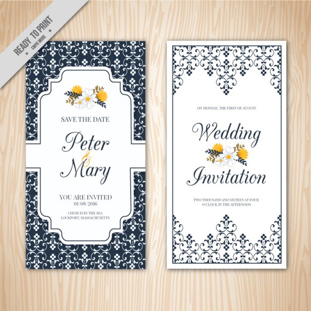 Wedding Invitation Package with best invitation sample